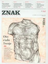 """okładka Miesięcznik """"ZNAK"""", luty 2015, nr 717, Książka  """