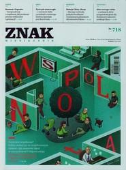 """okładka Miesięcznik """"ZNAK"""", marzec 2015, nr 718, Książka  """