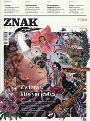 """okładka Miesięcznik """"ZNAK"""", maj 2015, nr 720, Książka  """