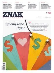 """okładka Miesięcznik """"ZNAK"""", czerwiec 2015, nr 721, Książka  """