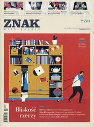"""okładka Miesięcznik """"Znak"""", wrzesień 2015, nr 724, Książka  """