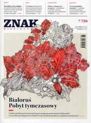 """okładka Miesięcznik """"Znak"""", listopad 2015, nr 726, Książka  """