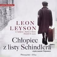 okładka Chłopiec z listy Schindlera. Audiobook, Książka   Leyson Leon