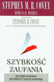 okładka Szybkość zaufania, Książka | Stephen R. Covey, Rebecca R. Merrill