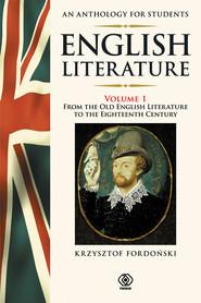 okładka English Literature. An Anthology for Students 1, Książka | Fordoński Krzysztof