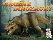 okładka Groźne dinozaury Puzzle, Książka   zbiorowa praca