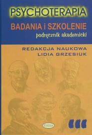 okładka Psychoterapia Badania i szkolenie, Książka |