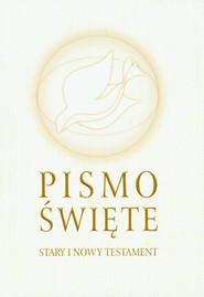 okładka Pismo Święte Stary i Nowy Testament B5 białe, Książka |