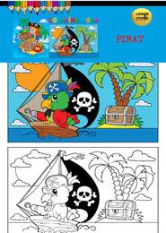 okładka Kolorowanka Pirat, Książka |