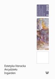 okładka Estetyka literacka Arcydzieło Ingarden, Książka |
