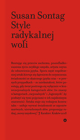 okładka Style radykalnej woli, Książka | Susan Sontag