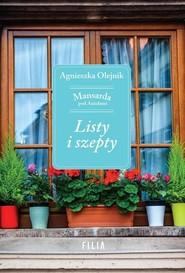 okładka Listy i szepty Mansarda pod Aniołami, Książka | Olejnik Agnieszka