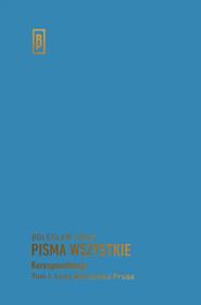 okładka Listy Bolesława Prusa, Książka   Prus Bolesław