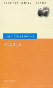 okładka Marta, Książka | Orzeszkowa Eliza