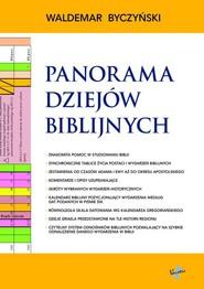 okładka Panorama Dziejów Biblijnych, Książka | Byczyński Waldemar