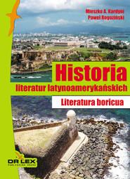 okładka Historia literatur latynoamerykańskich Literatura boricua, Książka | Mieszko A Kardyni, praca zbiorowa, Paweł Rogoziński