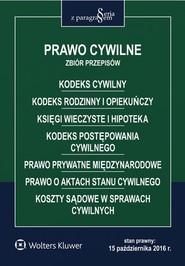 okładka Prawo cywilne Zbiór przepisów, Książka | Opracowanie zbiorowe