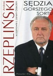 okładka Sędzia gorszego sortu, Książka   Jan Osiecki, Andrzej Rzepliński