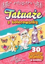 okładka Tatuaże z kolorowanką, Książka |
