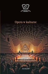 okładka Opera w kulturze, Książka |