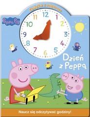 okładka Świnka Peppa Książka z zegarem Dzień z Peppą, Książka  