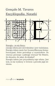 okładka Encyklopedia Notatki, Książka | Gonçalo M. Tavares