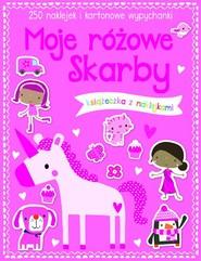 okładka Moje różowe skarby Książeczka z 250 naklejkami, Książka |