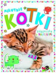okładka Milutkie kotki Książeczka z 250 naklejkami, Książka |