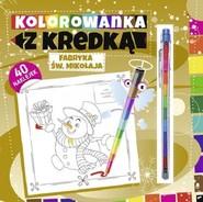 okładka Kolorowanka z kredką Fabryka Św. Mikołaja, Książka |