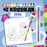 okładka Kolorowanka z kredką Zima, Książka |