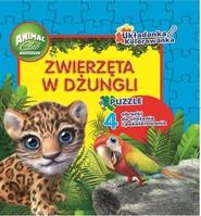 okładka Animal Club Układanka Kolorowanka Zwierzęta w dżungli, Książka  