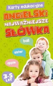 okładka Karty edukacyjne Angielski Najważniejsze słówka, Książka |