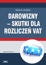 okładka Darowizny – skutki dla rozliczeń VAT, Ebook   Marcin Jasiński