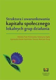 okładka Struktura i uwarunkowania kapitału społecznego lokalnych grup działania, Ebook | Katarzyna Zajda, Elżbieta Psyk-Piotrowska, Agnieszka Kretek-Kamińska
