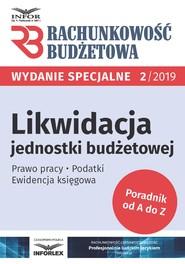 okładka Likwidacja jednostki budżetowej, Ebook | praca  zbiorowa