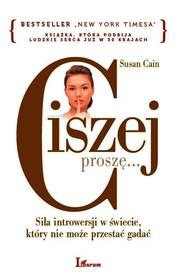 okładka Ciszej. proszę..., Ebook   Susan Cain