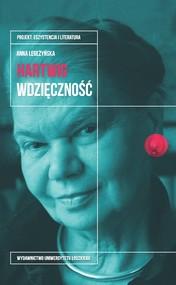 okładka Julia Hartwig. Wdzięczność, Ebook | Anna  Legeżyńska