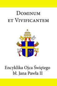 okładka Encyklika Ojca Świętego Jana Pawła II Dominum et Vivificantem, Ebook | Jan Paweł II