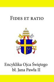 okładka Encyklika Ojca Świętego Jana Pawła II Fides et ratio, Ebook | Jan Paweł II