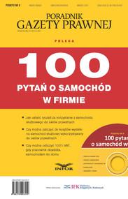 okładka 100 pytań o samochód w firmie (PDF), Ebook | INFOR PL SA