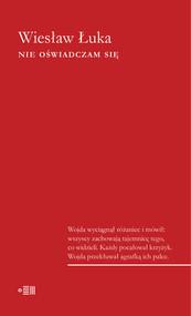 okładka Nie oświadczam się, Ebook | Wiesław Łuka