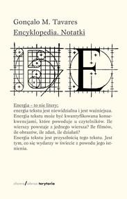 okładka Encyklopedia. Notatki, Ebook | Gonçalo M. Tavares