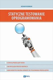okładka Statyczne testowanie oprogramowania, Ebook   Adam  Roman