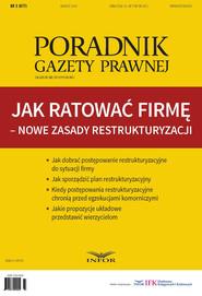 okładka Jak ratować firmę – nowe zasady restrukturyzacji, Ebook | INFOR PL SA