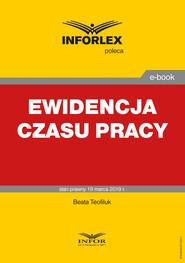 okładka Ewidencja czasu pracy, Ebook   Beata Tofiluk