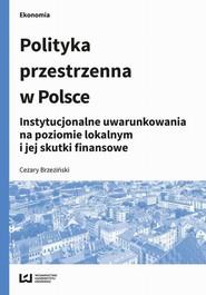 okładka Polityka przestrzenna w Polsce, Ebook | Cezary  Brzeziński