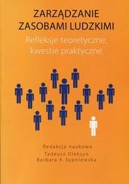 okładka Zarządzanie zasobami ludzkimi Refleksje teoretyczne kwestie praktyczne, Ebook | Tadeusz  Oleksyn, Barbara A.  Sypniewska