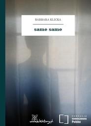 okładka same same, Audiobook | Barbara Klicka