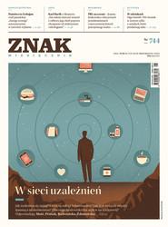 okładka Miesięcznik ZNAK nr 744: W sieci uzależnień, Ebook | autor zbiorowy