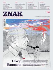 okładka Miesięcznik ZNAK nr 752: Lekcje Baumana, Ebook | autor zbiorowy